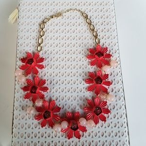 Jewelry - Chunky Pink Flower Statement Necklace